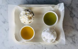 Farm Soap Co. - Base oils, plant butters and water in soap making